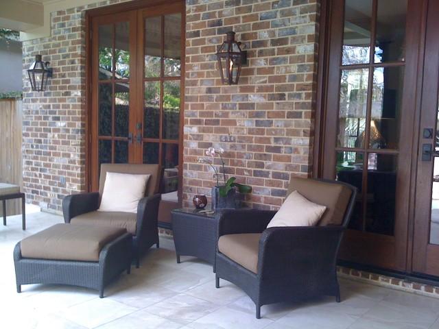 Houston New Contsruction traditional-patio