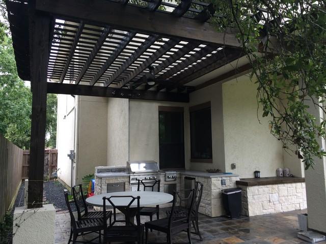 Houston Outdoor Kitchen With Pergola Restoration