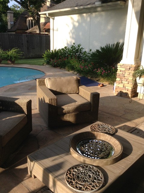 Houston patio makeover with upscale outdoor furniture