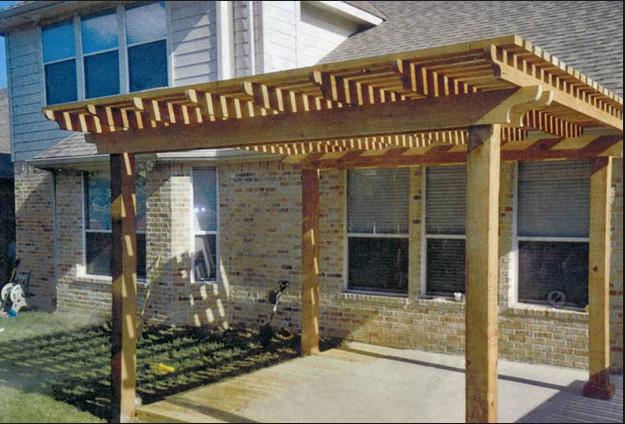 Houston pergola project craftsman patio houston by - Pergolas de cemento ...