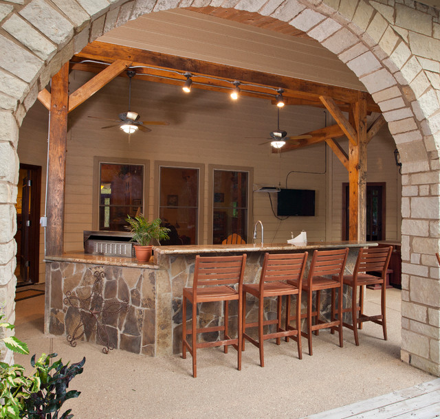 Houston Timber Frame Traditional Patio Houston By