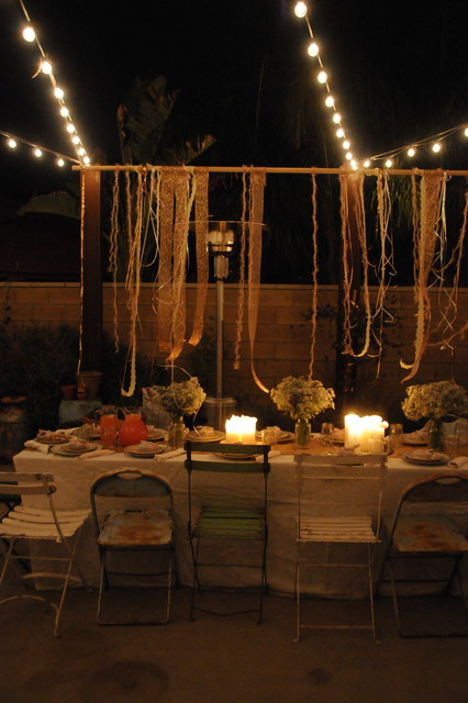 Houzz Holiday Contest A Pretty Backyard Dinner Partyeclectic Patio Los Angeles