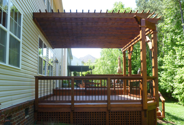 Huntersville Nc Deck And Pergola Traditional Patio