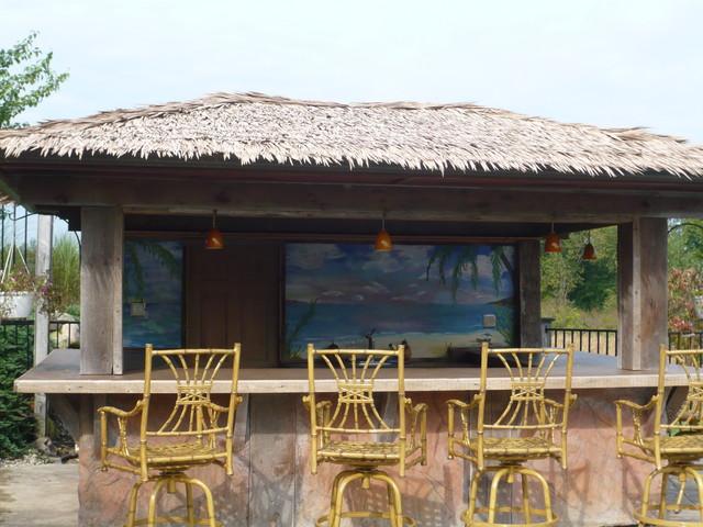 Hybrid Swimming Pool {PLO} tropical-patio