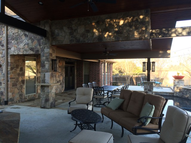 I'm Staying Outside traditional-patio