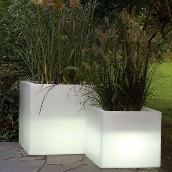 Illuminated indoor outdoor planters modern patio chicago by home infatuation