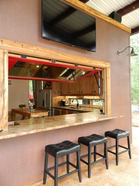 Indoor/Outdoor Bar - rustic - patio - dallas - by Wright-