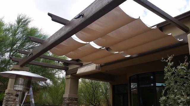 Infinity Canopy Featuring Phifertex Stucco By Az Shade