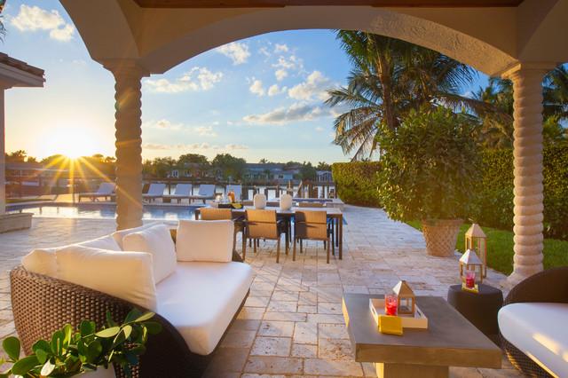 Ft. Lauderdale Interior Design - Contemporary Comfort mediterranean-patio