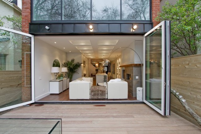 Interior / Exterior Folding Glass Walls - Modern - Patio - Other ...