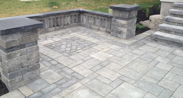 Interlocking Stone Traditional Patio Toronto By