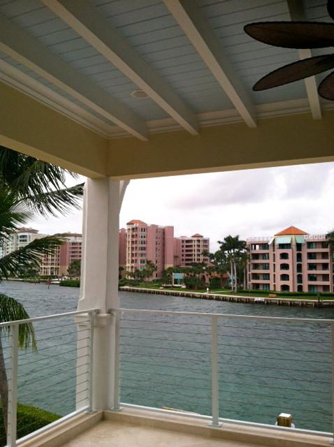 Key West Style Backyards : Intracoastal Key West Style Custom House  Tropical  Patio  miami