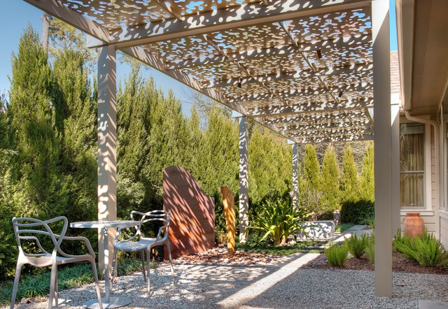 Iron Shade Arbor Contemporary Patio Houston By