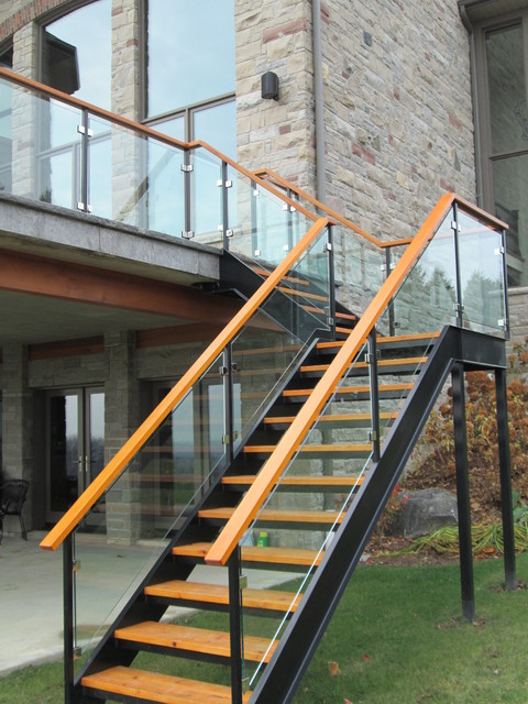 Iron Stairs Modern Patio Toronto By Endemans
