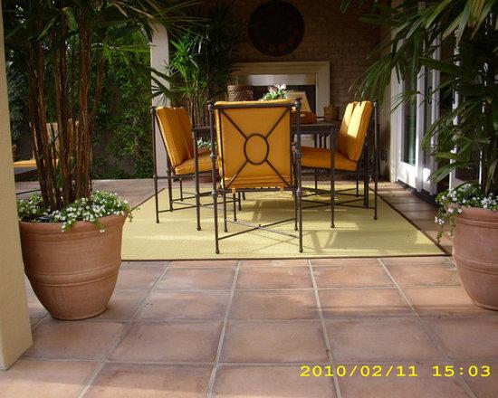 Irvine Model Homes - Exterior tiles Roman series Spanish Cotto color.