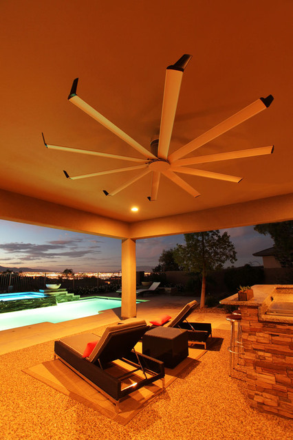 Outdoor Table Top Fan : Isis ceiling fan contemporary patio louisville by