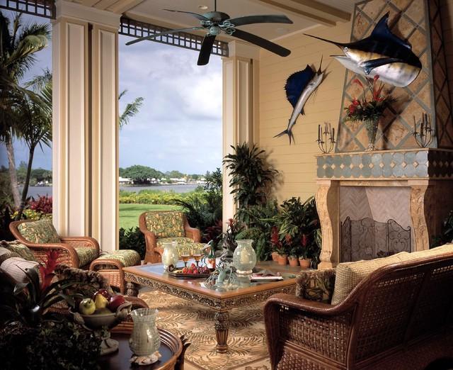 Island Colonial Plantation tropical-patio