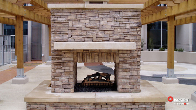 Isokern Fireplaces Patio Sacramento By Rustic Fire Place