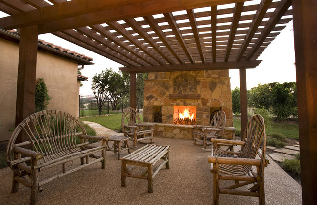 Italian countryside chateau contemporary patio other for Italian patio design