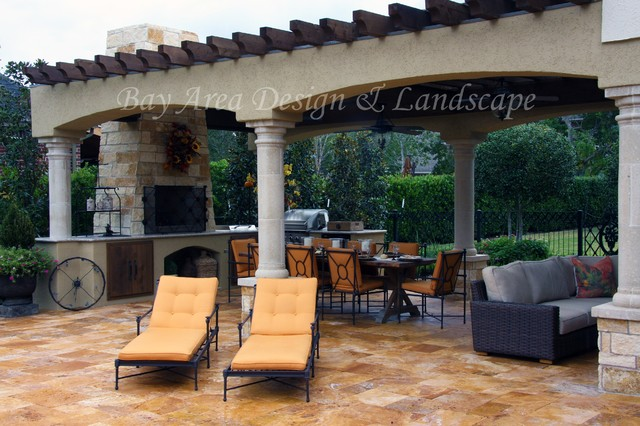 Italian Inspired Outdoor Living Mediterranean Patio Houston By Bay Area Design And Landscape