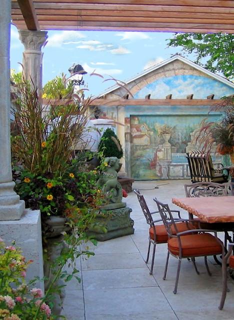 Italian Inspired Patio  Mediterranean  Patio  boise  by The Garden