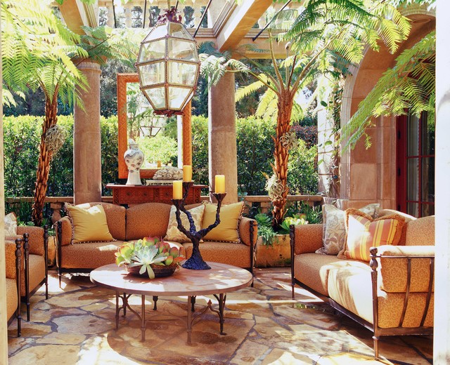 Italian Style in Newport Coast, California mediterranean patio