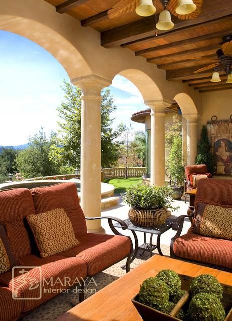 Tuscan Backyard Decor : All Rooms  Outdoor Photos  Patio