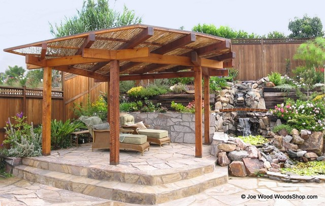 Japanese Shade Structure Asian Patio