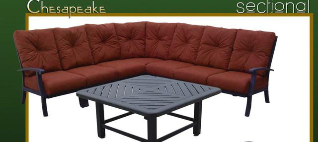 Karen Ashley Chesapeake Sectional Set Craftsman Patio