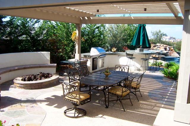 Katz /  Jacobs res mediterranean-patio
