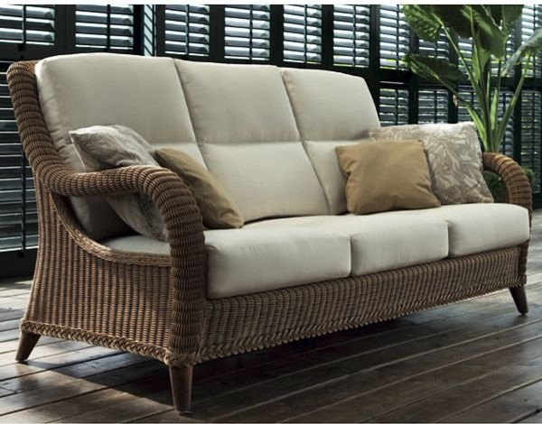 Kenya Outdoor Wicker Sofa Contemporary Patio Chicago By Home Infatuation