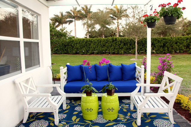Key West Themed Backyard : Key West Cottage  Beach Style  Patio  other metro  by Interiors by