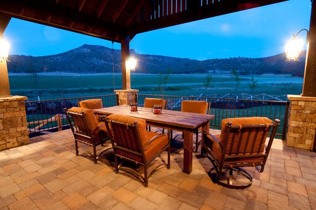 Keystone Ranch Home | Brasada Ranch Style Homes Rustic Patio