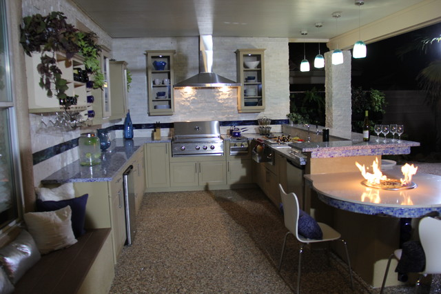 Kitchen Crashers Eclectic Patio Las Vegas By Green