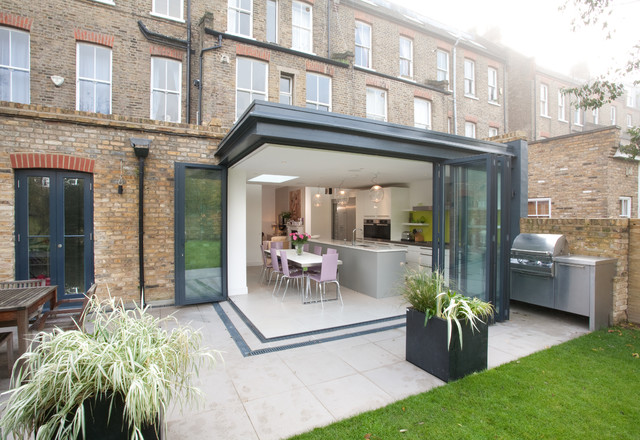 Kitchen extension 1 for Modern garden rooms london
