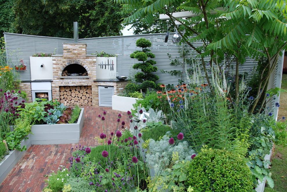 kitchen garden  contemporary  patio  london