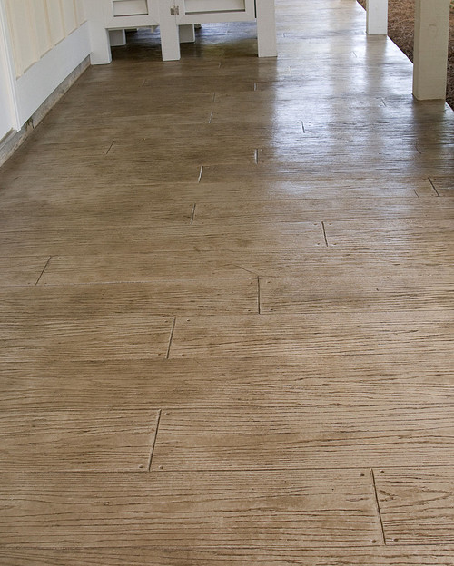 - Is This Stamped And Stained Concrete Or Woodgrain Porcelain Tile?
