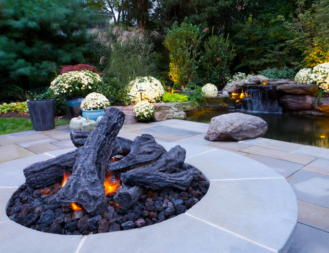 Koi pond and patio contemporary patio dc metro by for Koi pool garden centre