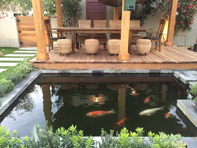 Koi pond modern patio los angeles by creative zen for Balcony koi pond