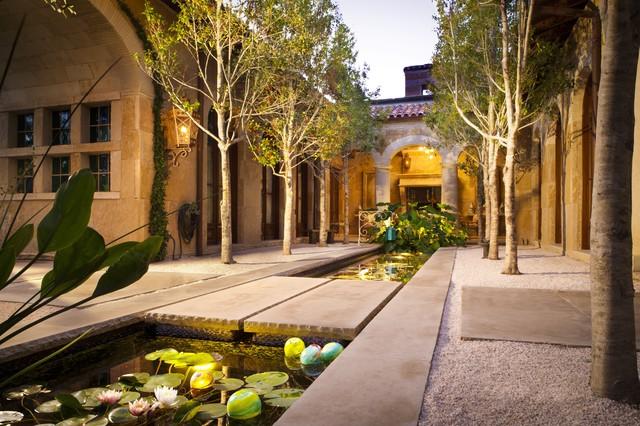 Koi Pond/Water Garden HGTV Amazing Water Homes Mediterranean Patio