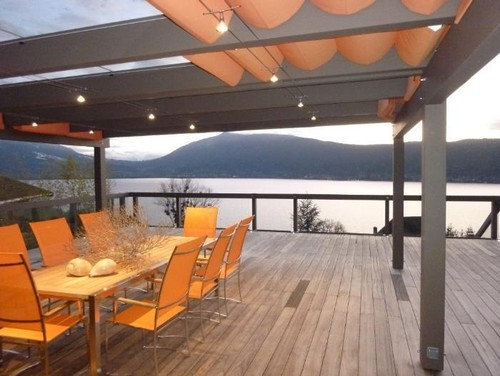 From where was this modern pergola with the retractable shades ... - Pergola Sliding Shade