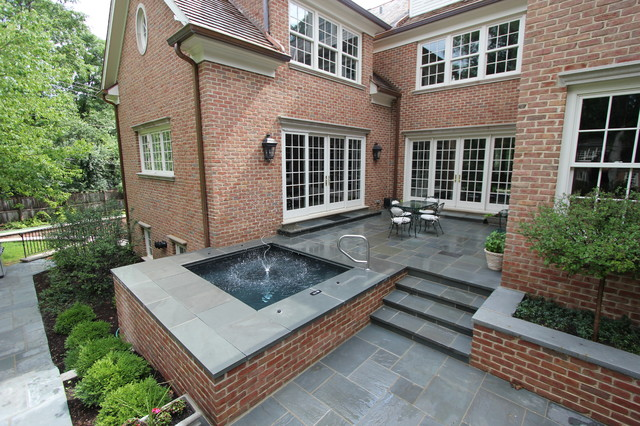Lake forest il spa with brick walls and stone patio for 43591 white cap terrace