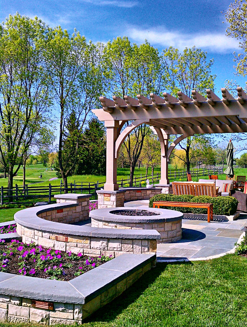 Lake forest residence landscape design traditional for Land design landscaping