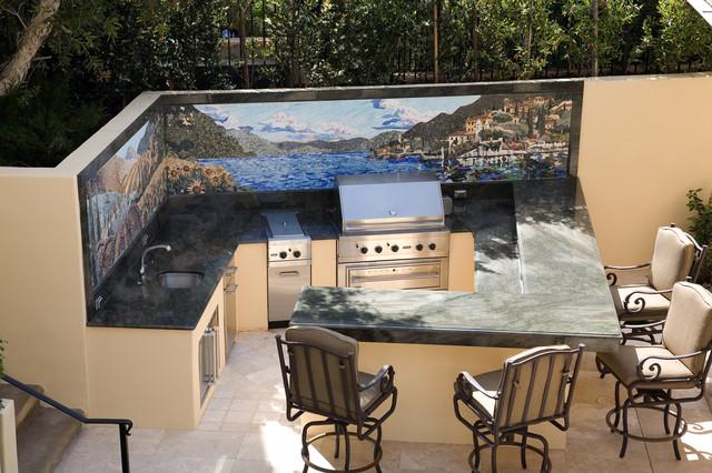 backyard bar and grill contemporary patio