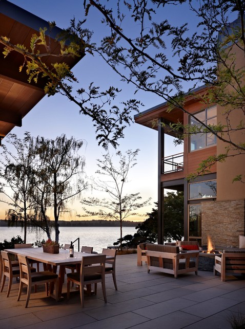 Lake House Two Patio Modern Patio Seattle By Mcclellan Architects