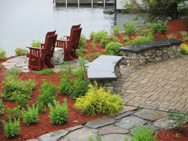 Lakefront patio traditional patio other by natures for Lakefront landscaping photos