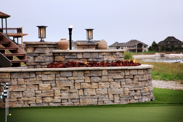 Lakefront Property - Traditional - Patio - omaha - by ... on Lakefront Patio Ideas id=37205