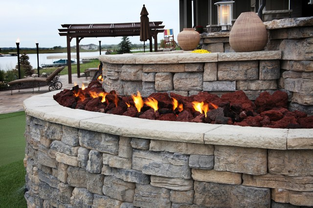 Lakefront property traditional patio omaha by clear creek