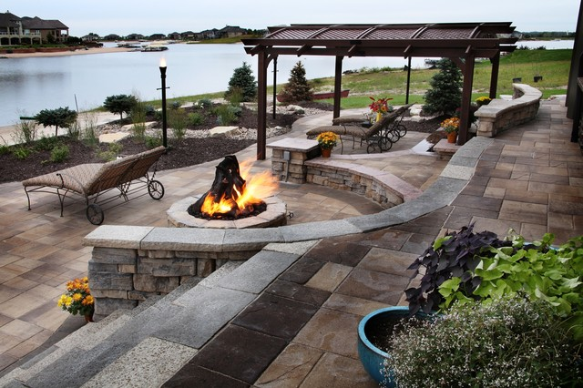 Lakefront Property Traditional Patio Omaha By