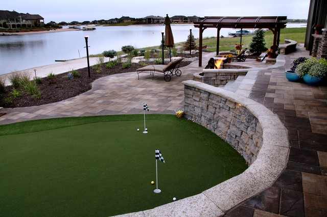 Lakefront Property - Traditional - Patio - omaha - by ... on Lakefront Patio Ideas id=93671